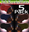 Jah Roots Ready Wraps 5 Pack (Red, Navy, Black, Brown, & Olive)