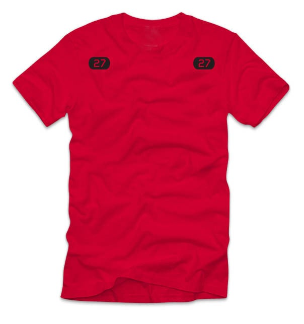 Image of Adult Kemp's Kids 27 Tee (Red)