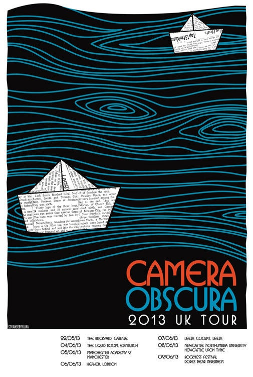 Image of Camera Obscura UK Tour Poster