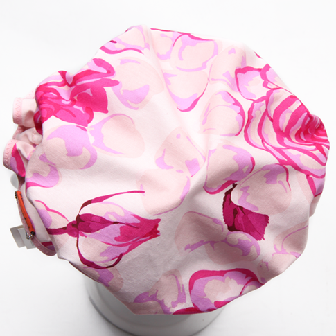 Showercap white with large pink flowers big size shameful image of showercap white with large pink flowers big size mightylinksfo