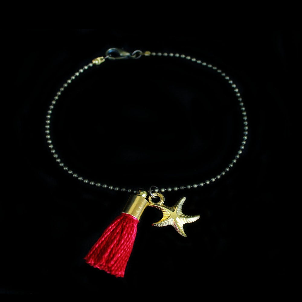 Image of Bracelet Pompon Rouge
