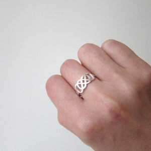 Image of Infinity Time Infinity Sign Ring - Handmade sterling silver ring