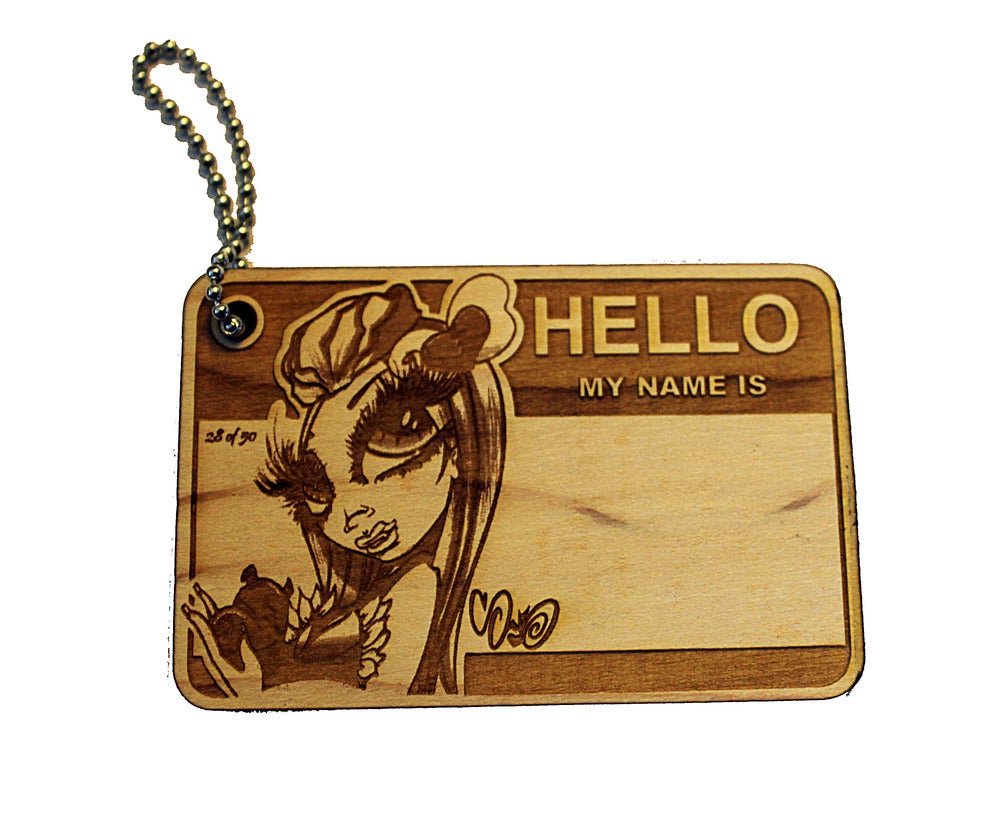 Image of SAND ONER X DVIOUS WOOD KEYCHAIN