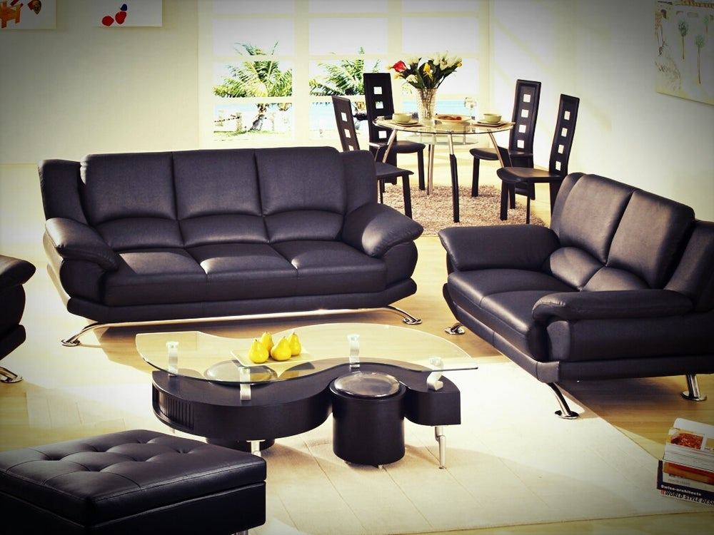 Surprising Modern Furniture Store Complete Black Leather Set Sofa Pabps2019 Chair Design Images Pabps2019Com