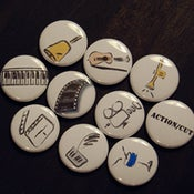 "Image of 1"" Button Set 1 - Arts"