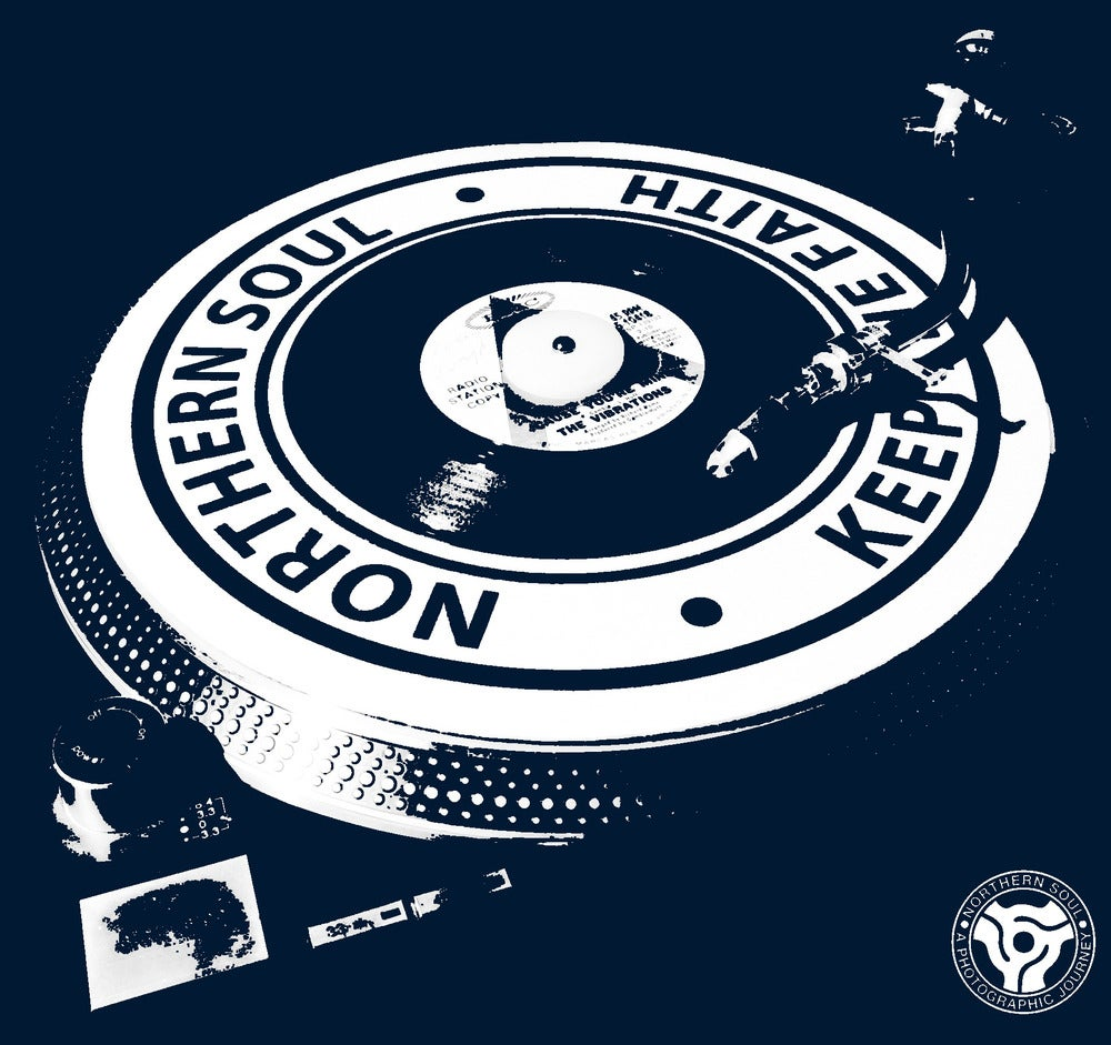 Image of Northern Soul - Turntable T-Shirt. NAVY BLUE
