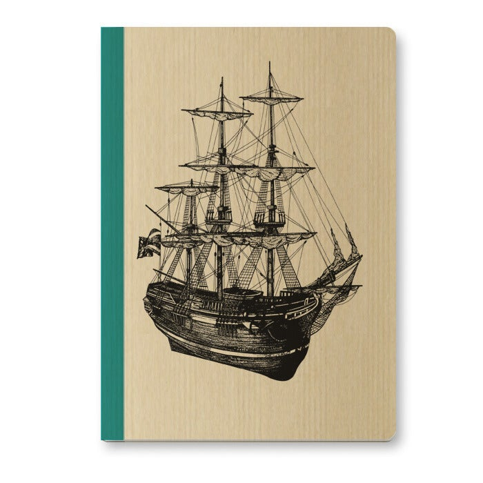 Image of Cahier A5 Voilier couverture Kraft