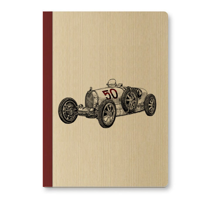 Image of Cahier A5 Voiture couverture Kraft