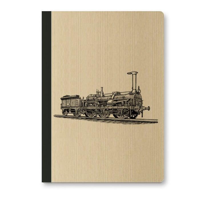 Image of Cahier A5 Locomotive couverture Kraft