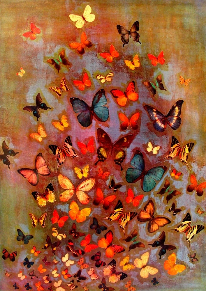 Image of Lily Greenwood Signed Giclée Print - Heather Butterflies - A2 - Limited Edition