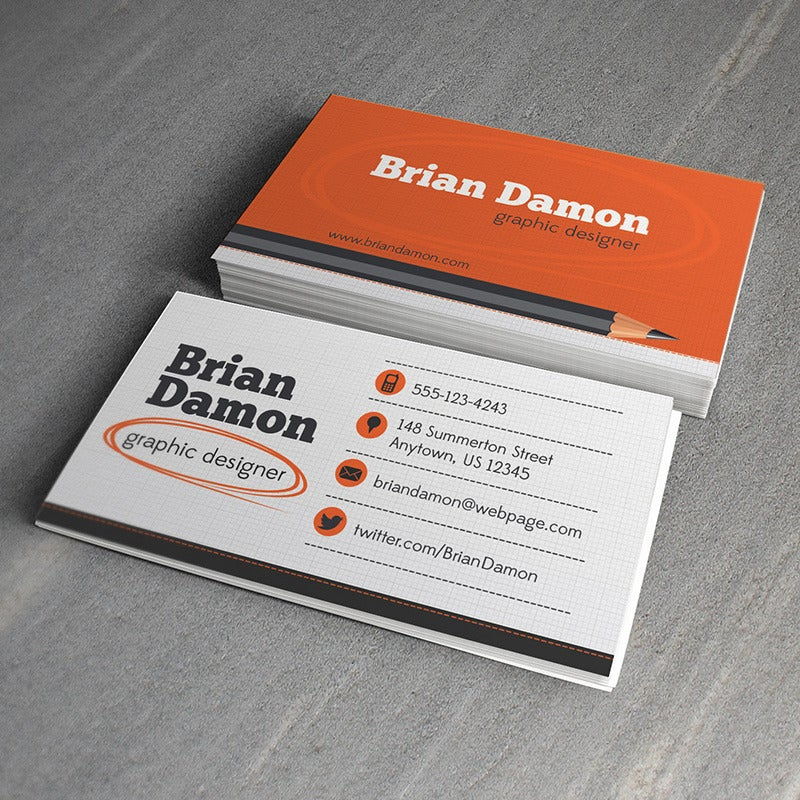 Graphic Designer Business Card Template Design Trunk Customized