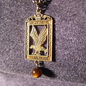 Image of Bronzed Eagle Necklace