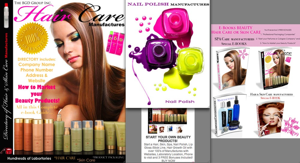 START A HAIR/SKIN/SPA/BEAUTY/LIP GLOSS or a Nail Polish Company  (MANUFACTURE DIRECTORY)