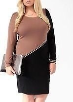 Image of Black and Brown zipper dress