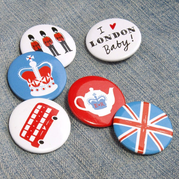 Alice Tait Set of 'London' Badges - Alice Tait Shop