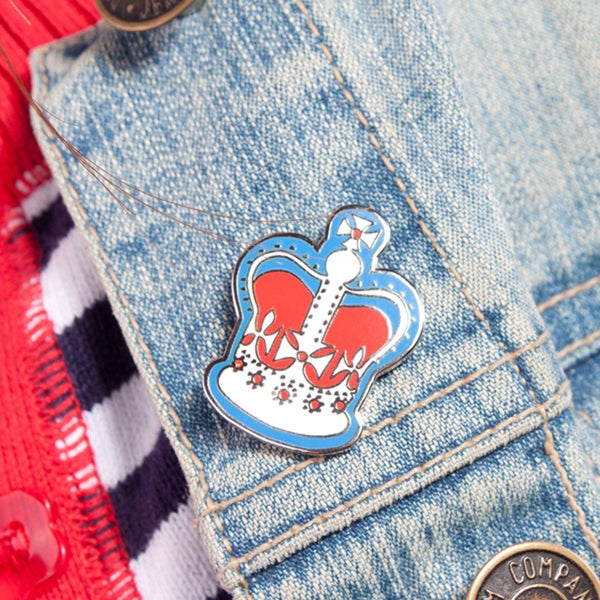 Alice Tait Enamel 'London Crown' Pin Badge - Alice Tait Shop