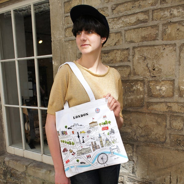 Alice Tait 'Map of London' Shopper Bag - Alice Tait Shop