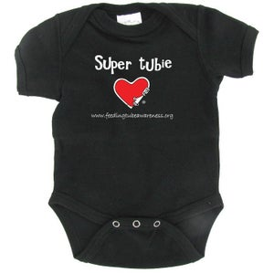 Image of Super Tubie Infant One-piece - Black