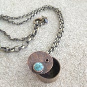 Image of 1 of a Kind! Swivel Locket with Turquoise