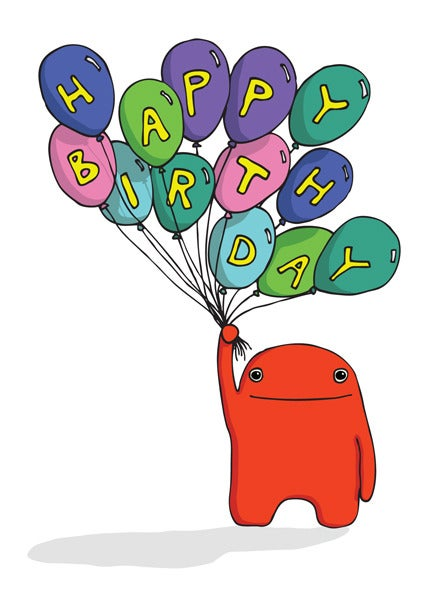 Image of Happy Birthday Balloon  - Birthday Card