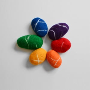 "Image of FELTED STONES | ""Rainbow"""