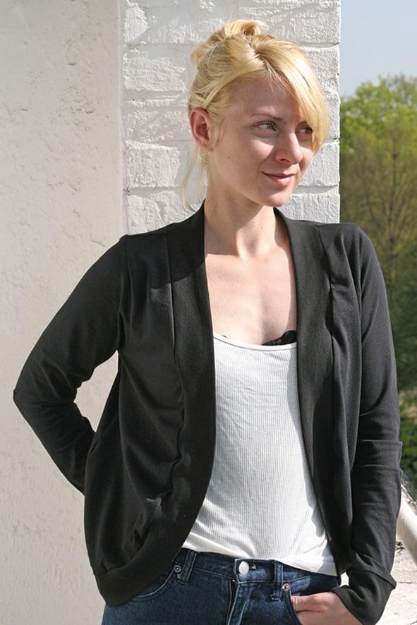 Image of Jäckchen aus Jersey - schwarz