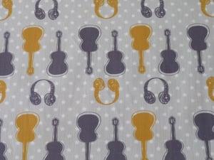 """Image of tissu """"Guitare"""""""