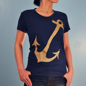 Image of Metalic Anchor Women's T-shirt