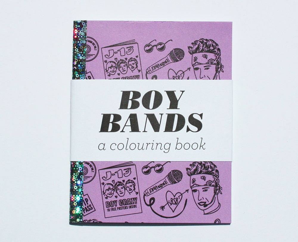 Image of Boy Bands - A Mini Colouring Book