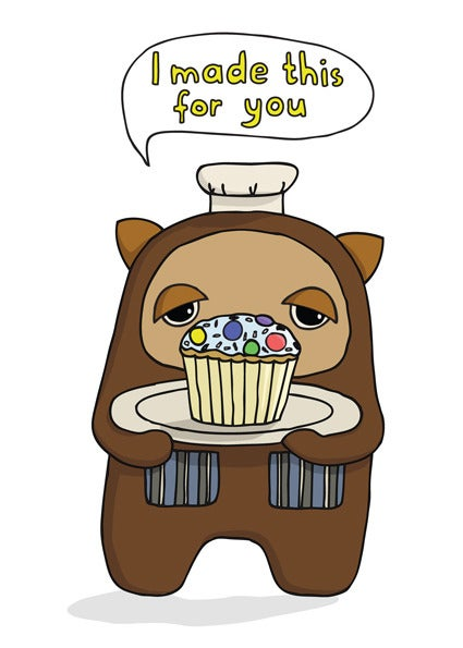 Image of I made this for you - Card