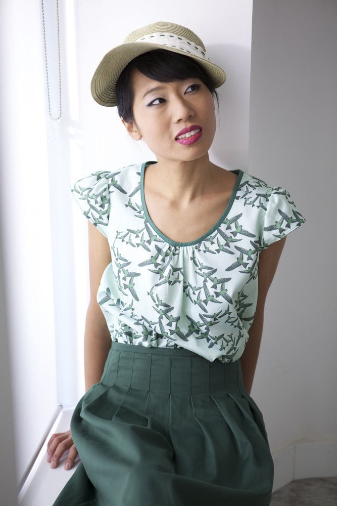 Image of MissSotoka, The birds collection, green skirt