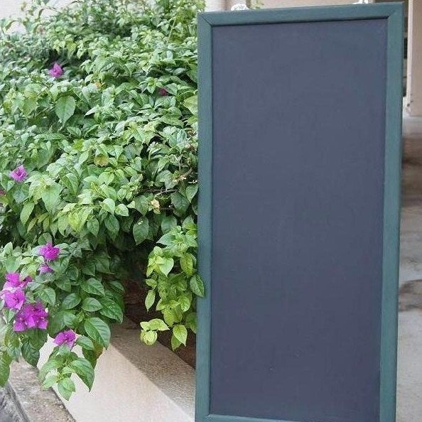 Image of Long Chalkboard with Narrow Green Frame