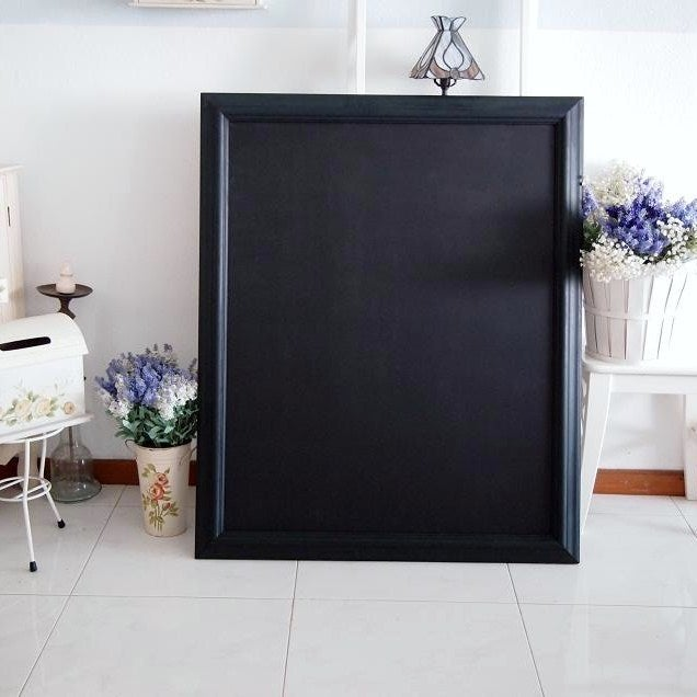 Big Chalkboard with Matt Dark Green Vintage Frame