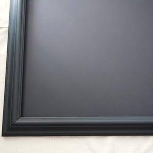 Big Chalkboard with Matt Dark Green Vintage Frame