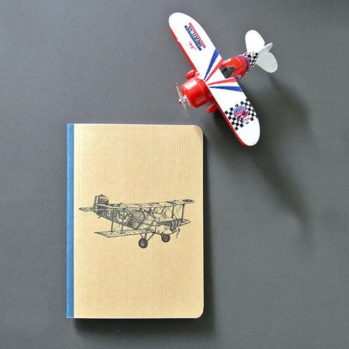 Image of Cahier A5 Avion couverture Kraft