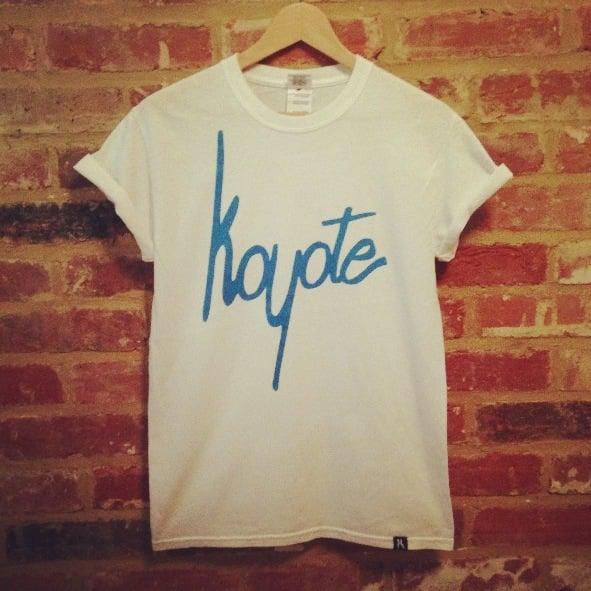 Image of Koyote Script Tee White/Blue