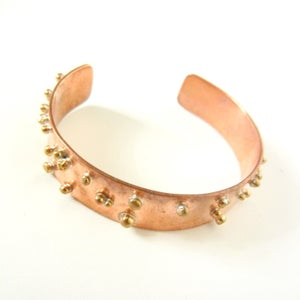 Image of Brass Dotted Cuff
