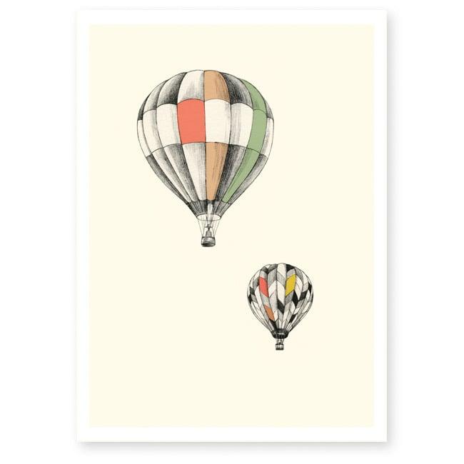 Image of Affiche A4 Les montgolfières