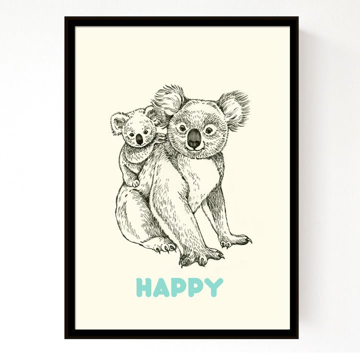 Image of Affiche A4 Koala