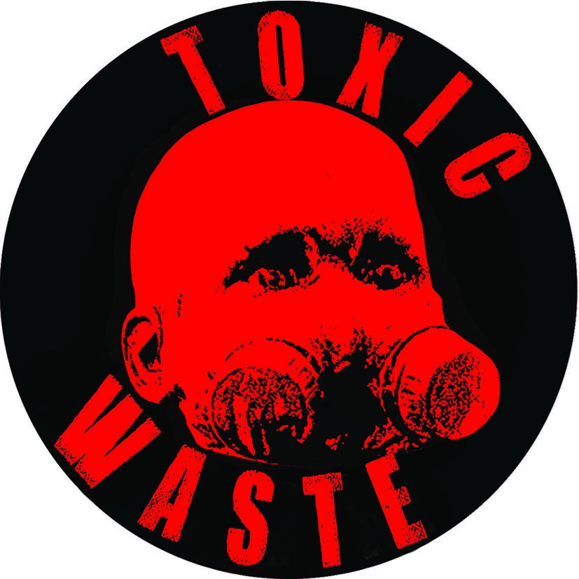 """Image of Sticker rond """"Toxic Waste"""""""