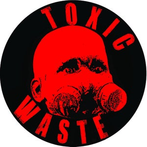 "Image of Sticker rond ""Toxic Waste"""