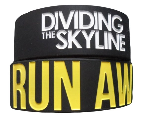 "Image of ""Run Away"" 1-Inch Silicone Wristband"