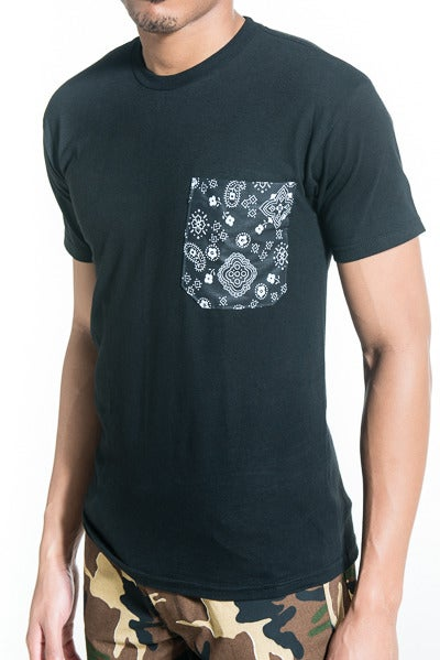 Image of Paisley & Flowers Pocket Tee
