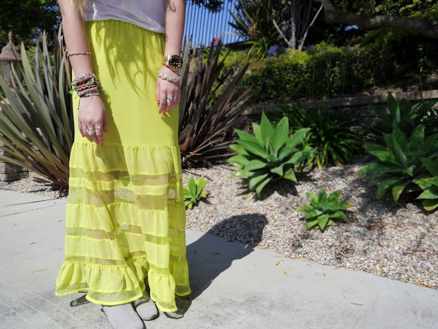 Image of Neon Maxi Skirt