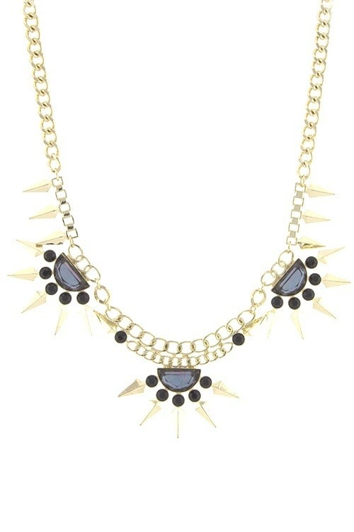 Image of Spiked Burst Necklace