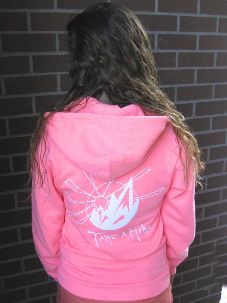 Image of Take a Hike Full Zip Hoodie (Electric Pink)