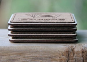 Image of Personalized Cork and Wood Coasters