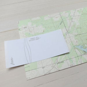 Image of adventure calls letterpress card