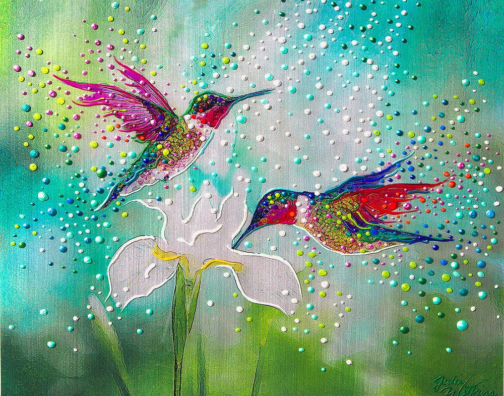 Image of Hummingbirds – Good Luck And Abundance Totem
