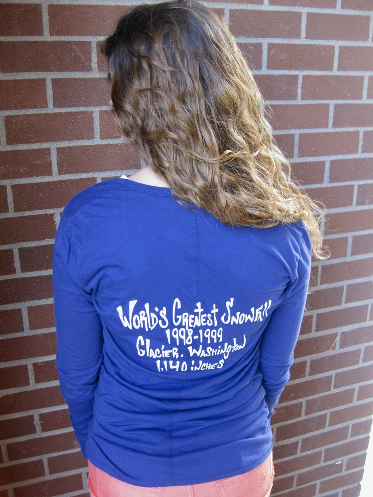 Image of Ladies Mt. Baker Remixed Blue L/S Tee